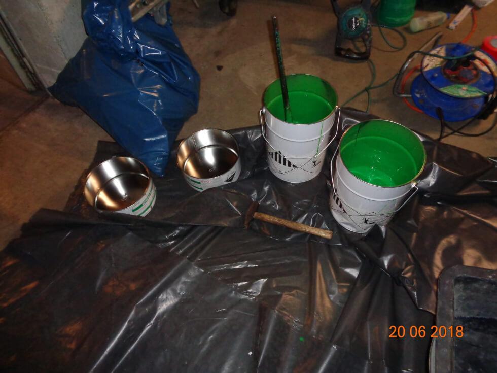 Anmischen von Harz für die Rohrsanierung mittels Inliner