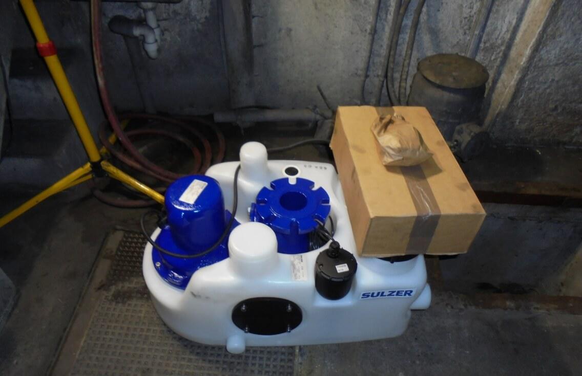 Sulzer Sanimat Hebepumpe für fäkalienhaltiges Abwasser