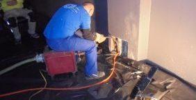 Rohrreinigung von verstopfter Rohrleitung
